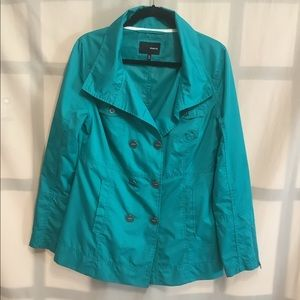 Hurley green water resistant buttoned jacket
